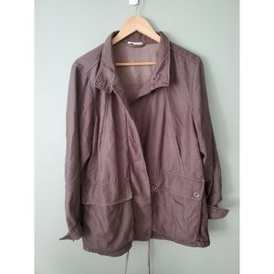 Eileen Fisher cotton brown/taupe jacket la…